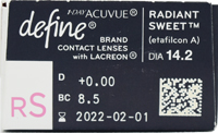 1day Acuvue Define Moist Radiant Sweet with LACREON